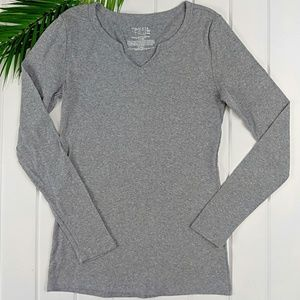 Time and Tru Long Sleeve V-Neck Shirt